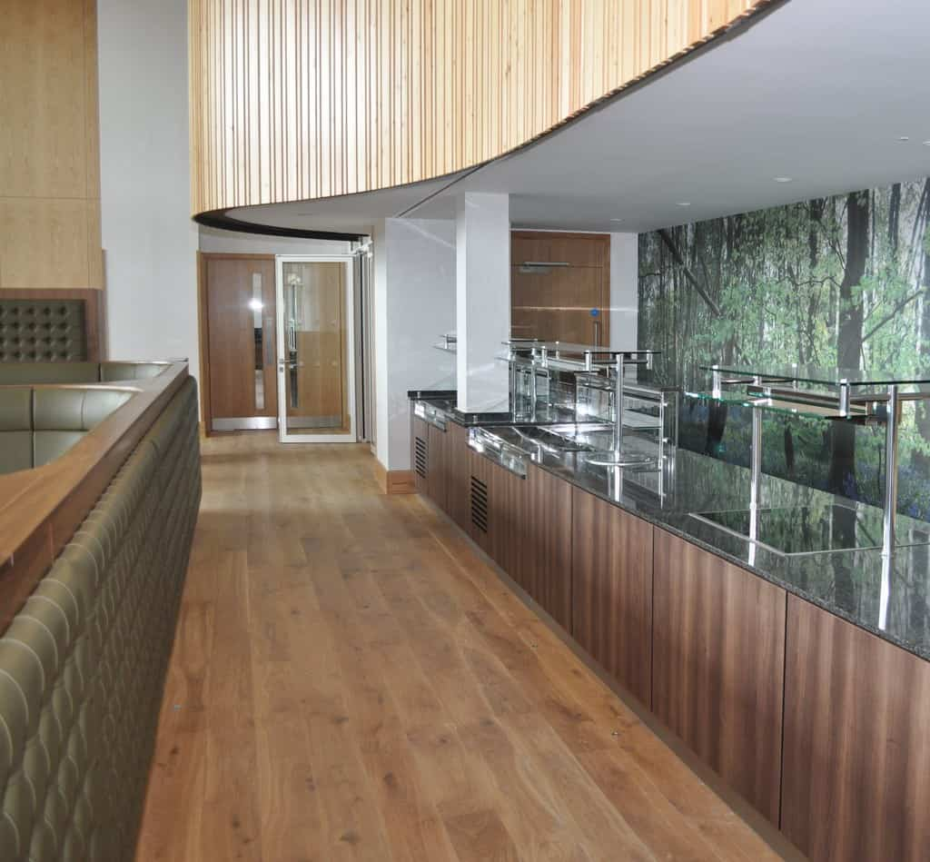 Varithek discreetly built into servery counter
