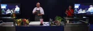 Nottingham Trent, IVAN HOPKINS  using Rieber Varithek to demomonstrate cooking