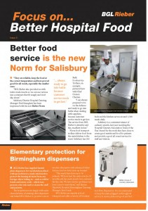 Pages from Better Hospital Food BGL Rieber Newsletter Issue 5.
