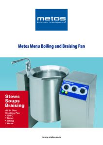 Metos Menu Boiling and Braising Pan