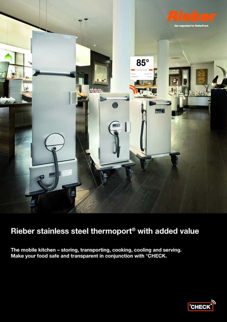 Rieber stainless steel thermoport® with added value