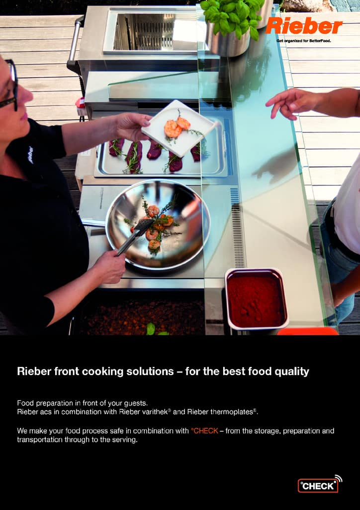 Front cooking solutions from Rieber