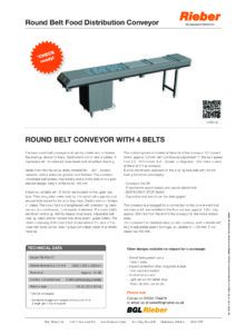 Quad round cord conveyor