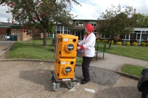 thermoport rise park school heavy duty castors
