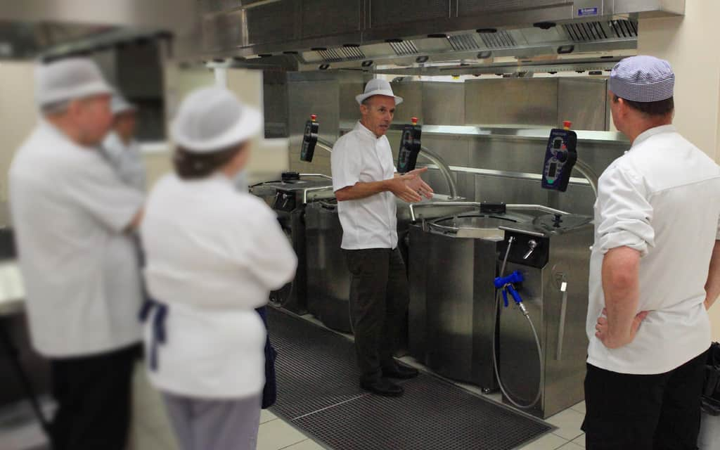 County hospital stafford has reorganised its catering and completed the installation of a new cook freeze system based on metos proveno cooking kettles