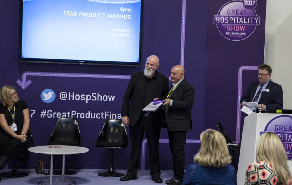 great hospitality product awards, the winning moment 2250
