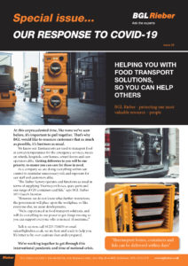 HELPING YOU WITH FOOD TRANSPORT SOLUTIONS, SO YOU CAN HELP OTHERS