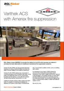 - NEW - Varithek ACS with Amerex fire suppression